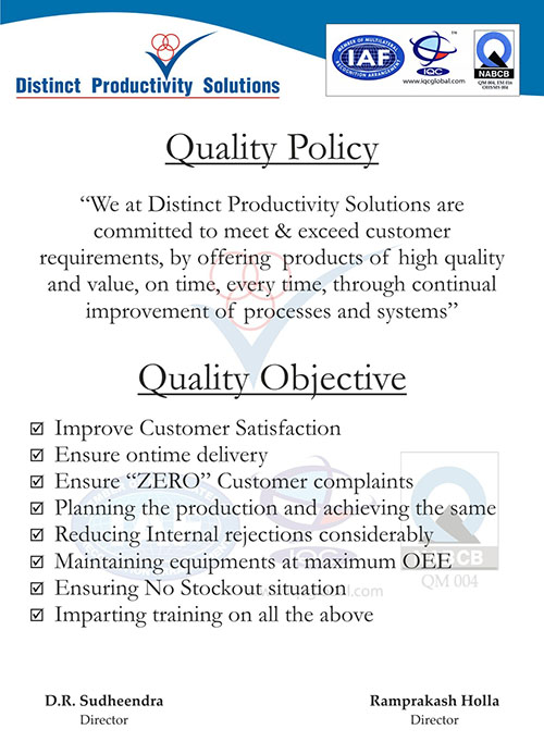 Distinct quality certificates quality policy quality objectives thecheapjerseys Gallery
